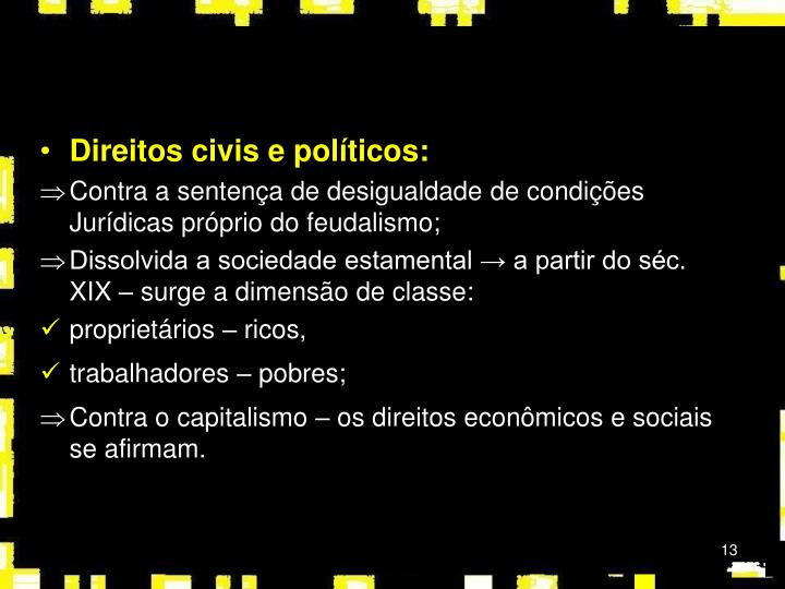 Direitos civis e políticos: