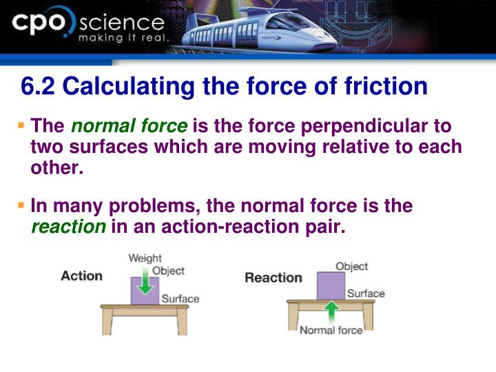 6.2 Calculating the force of friction