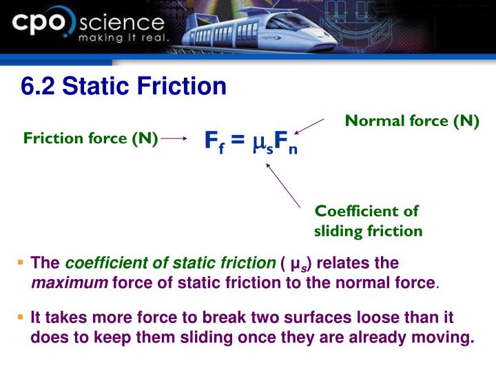6.2 Static Friction