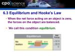 6 3 equilibrium and hooke s law