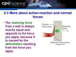 6 3 more about action reaction and normal forces