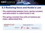 6 3 restoring force and hooke s law1