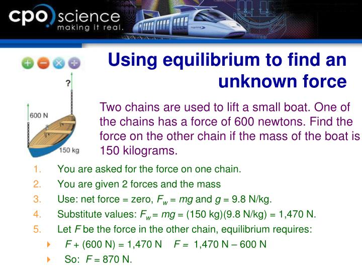 Using equilibrium to find an