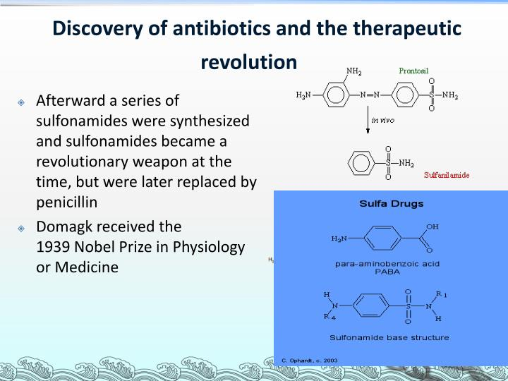 Discovery of antibiotics and the therapeutic