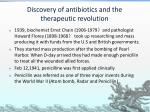 discovery of antibiotics and the therapeutic revolution3