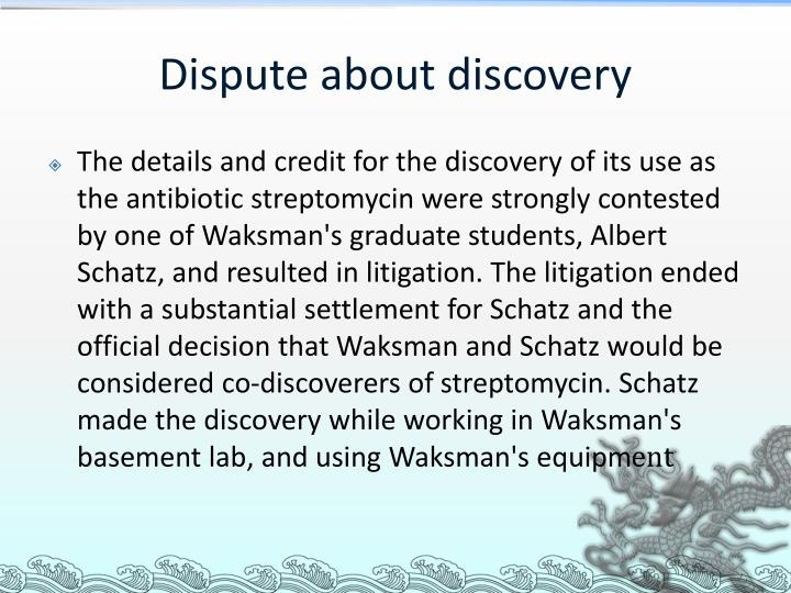 Dispute about discovery