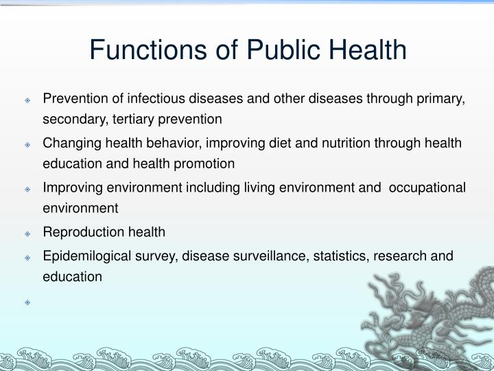 Functions of Public Health