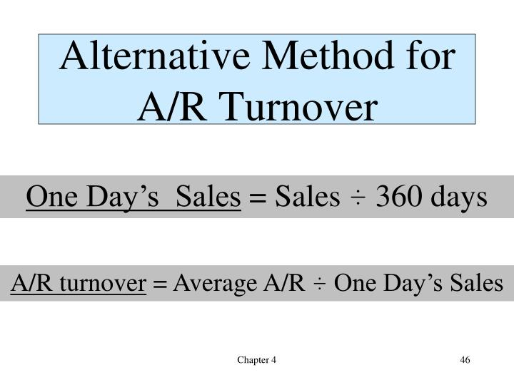 Alternative Method for A/R Turnover