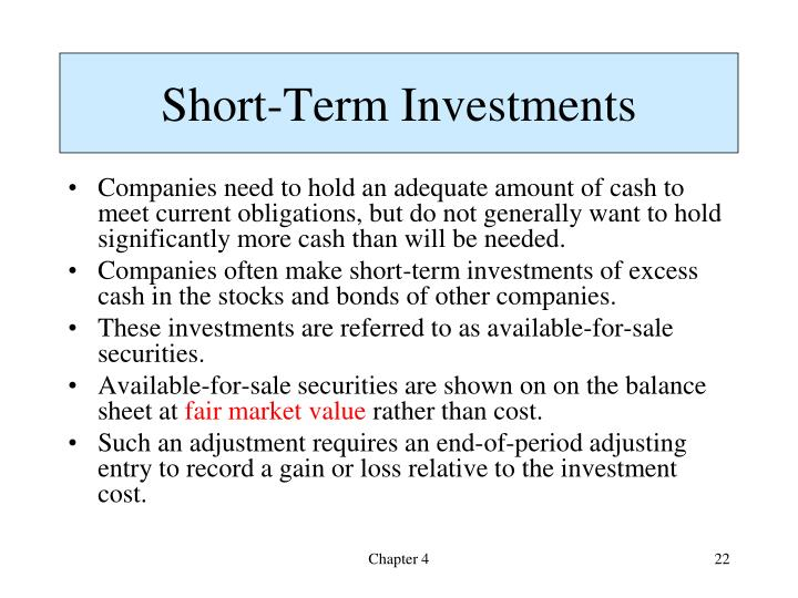 Short-Term Investments