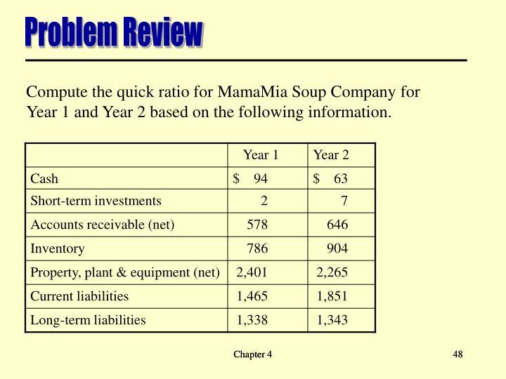 Problem Review