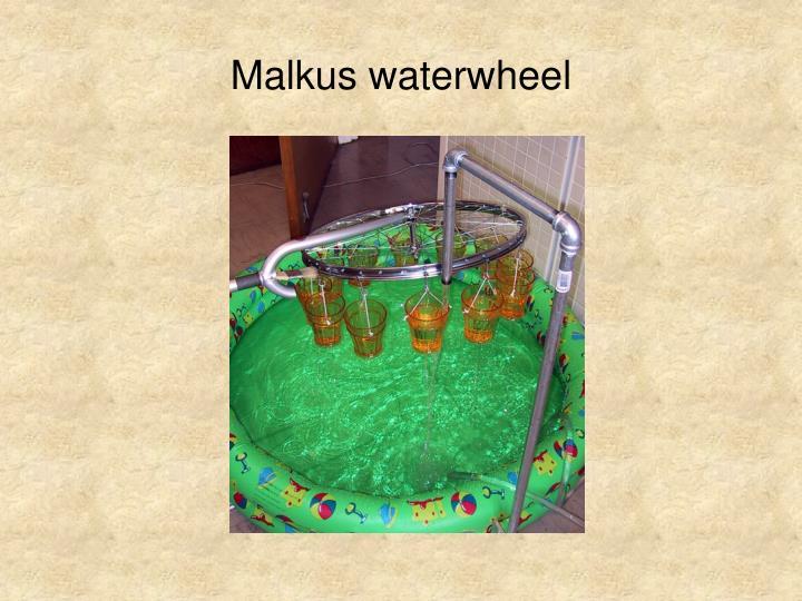 Malkus waterwheel