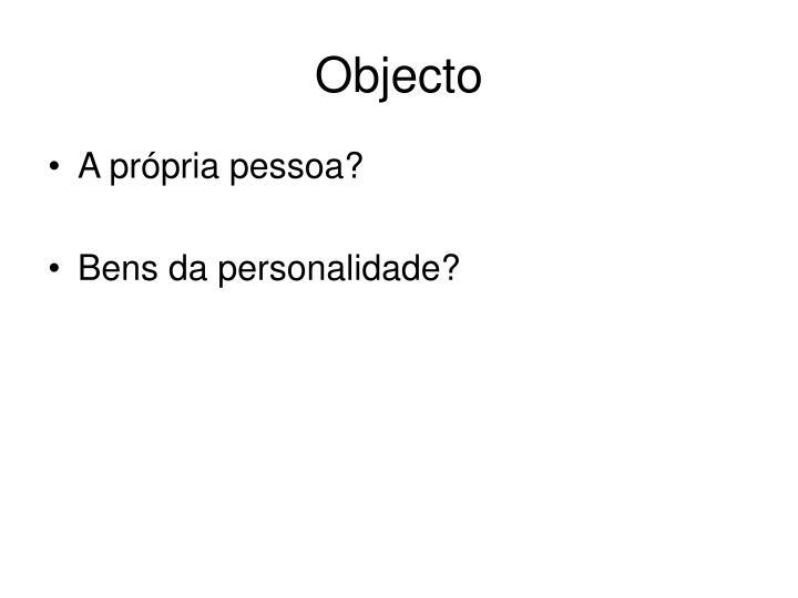 Objecto