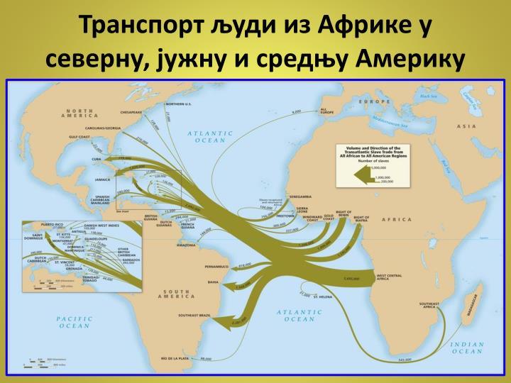Транспорт људи из Африке у северну, јужну и средњу Америку