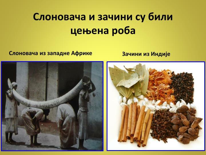 Слоновача и зачини су били цењена роба