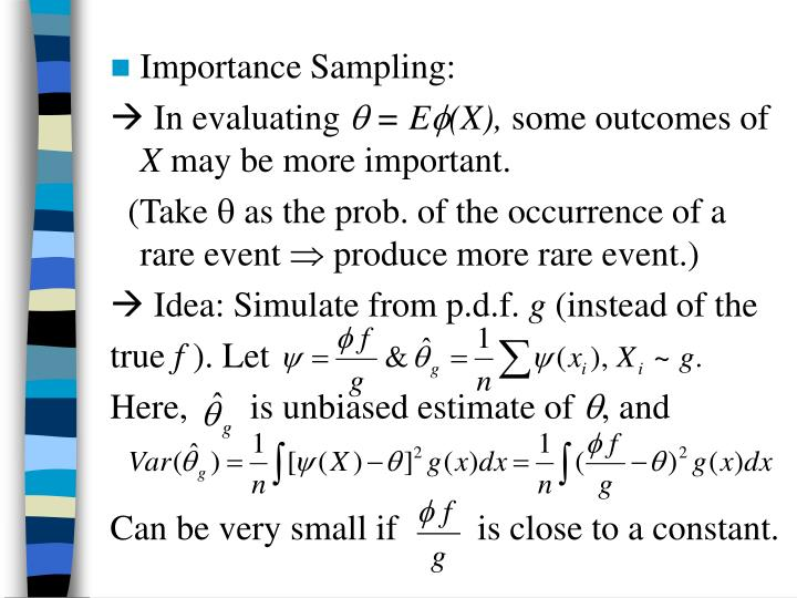 Importance Sampling: