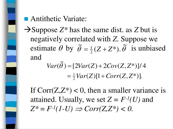 Antithetic Variate: