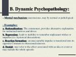 b dynamic psychopathology