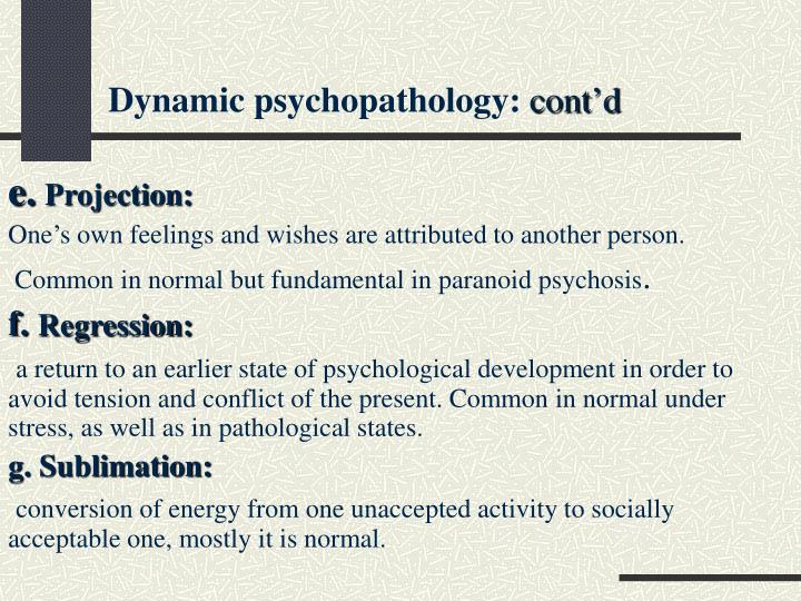 Dynamic psychopathology: