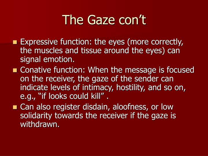 The Gaze con't