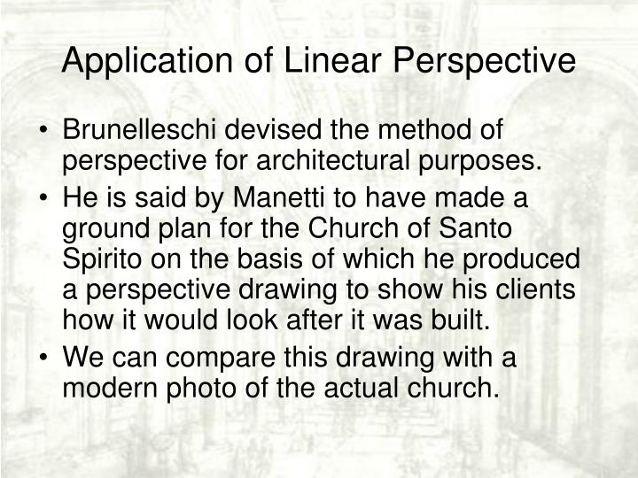 Application of Linear Perspective