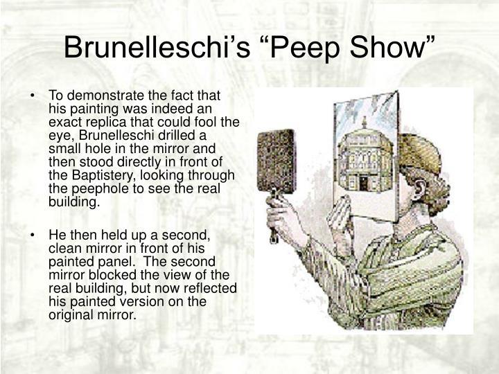"Brunelleschi's ""Peep Show"""