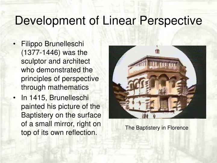 Development of Linear Perspective
