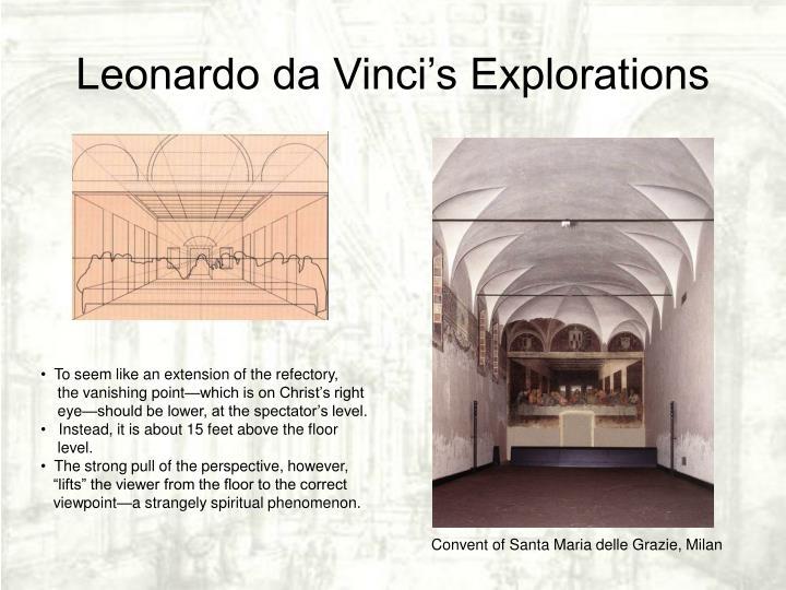 Leonardo da Vinci's Explorations