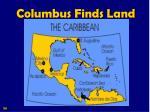 columbus finds land