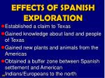 effects of spanish exploration