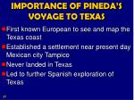 importance of pineda s voyage to texas