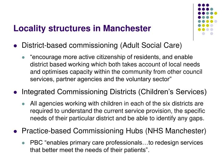 Locality structures in Manchester