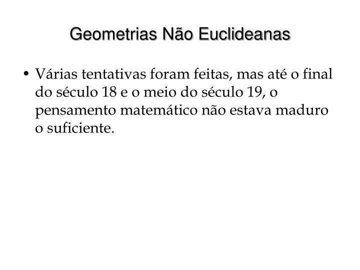 Geometrias Não Euclideanas