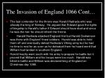 the invasion of england 1066 cont