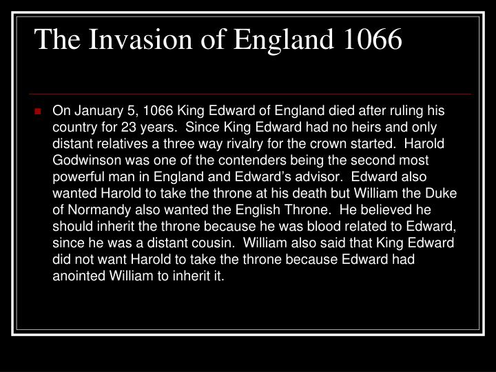 The Invasion of England 1066