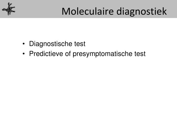 Moleculaire diagnostiek