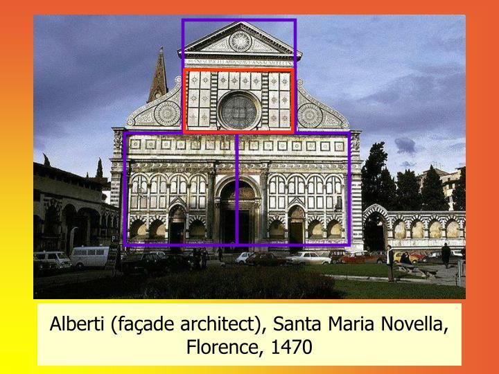 Alberti (façade architect), Santa Maria Novella, Florence, 1470
