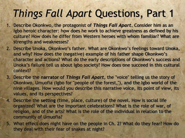 fear in things fall apart essays