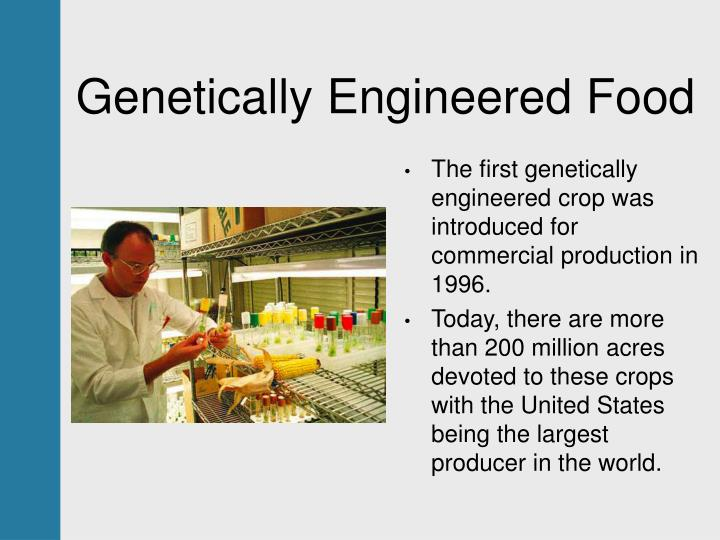 Genetically Engineered Food