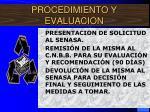 procedimiento y evaluacion