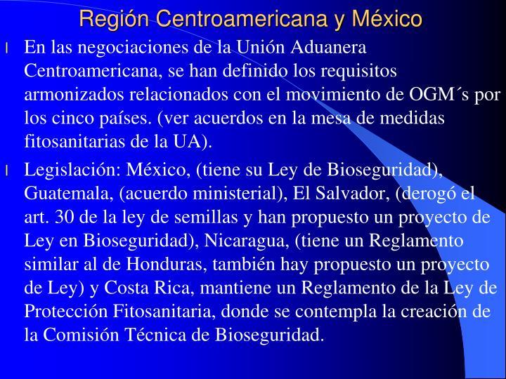 Región Centroamericana y México