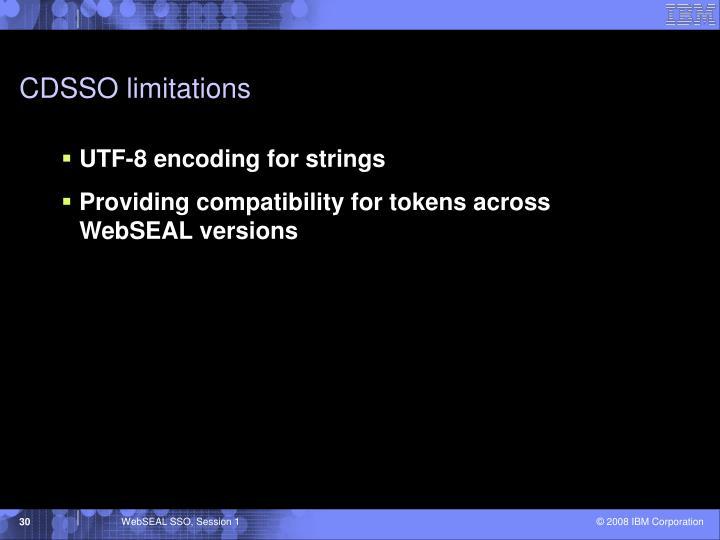 CDSSO limitations