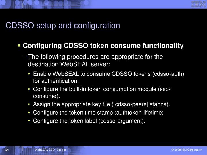 CDSSO setup and configuration