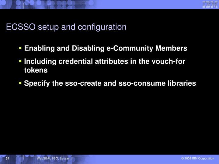 ECSSO setup and configuration