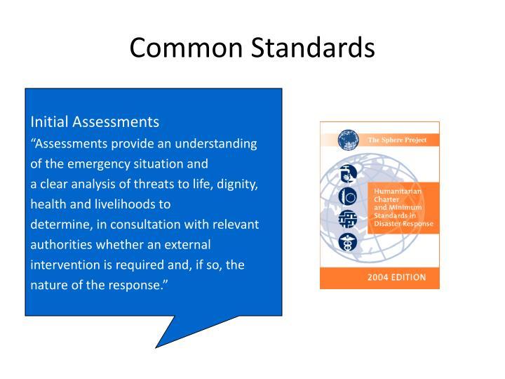 Common Standards