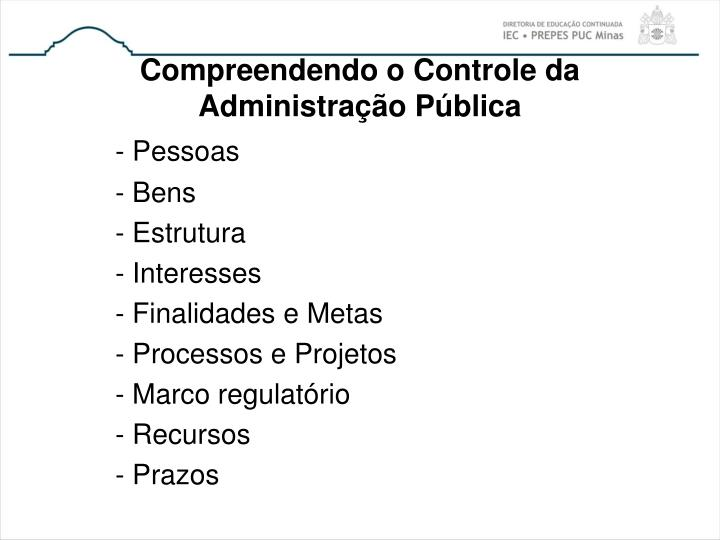 Compreendendo o Controle da Administração Pública