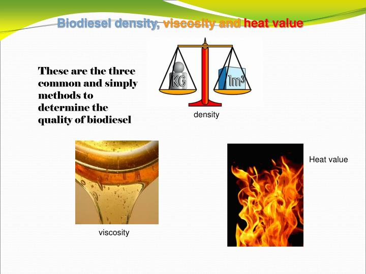 Biodiesel density,