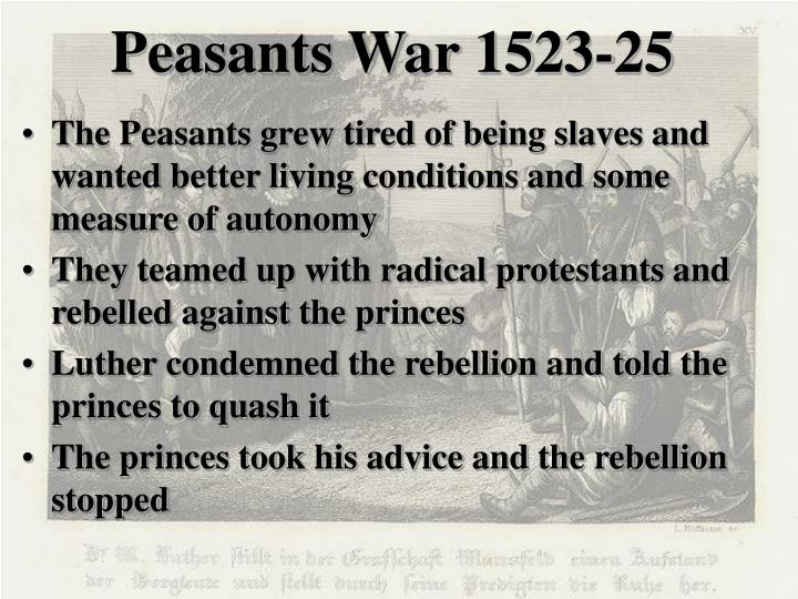 Peasants War 1523-25