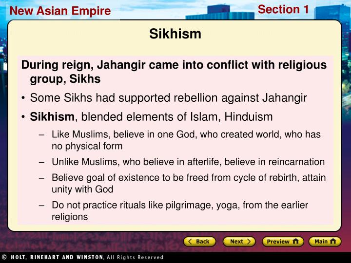 During reign, Jahangir came into conflict with religious group, Sikhs
