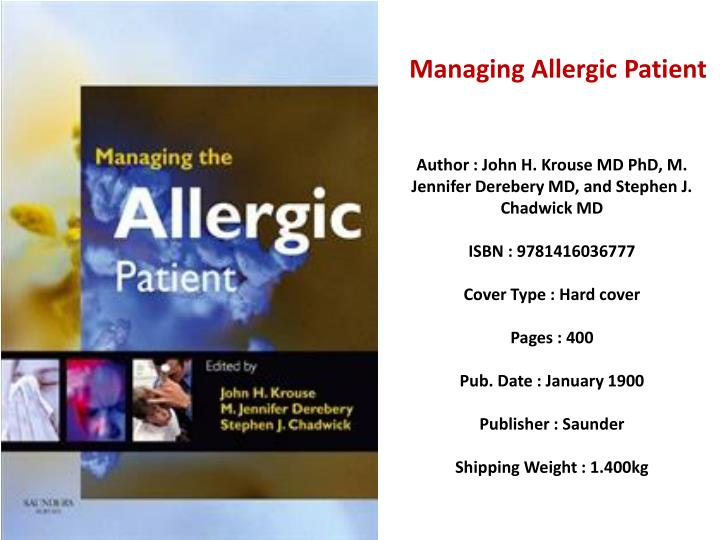 Managing Allergic Patient