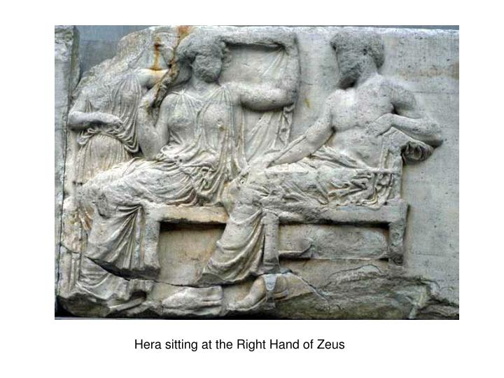 Hera sitting at the Right Hand of Zeus